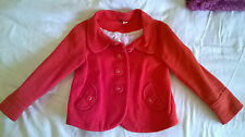 H&M Red Cropped Jacket Size 8/34