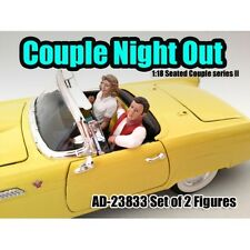 SEATED COUPLE 2 PIECE FIGURE SET RELEASE 2 1:18 MODELS BY AMERICAN DIORAMA 23833