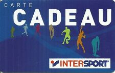 RARE / CARTE CADEAU : INTERSPORT BOUTIQUE MAGASIN SPORT / CARD