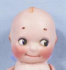 Kewpie All Bisque Doll Rose O'Neill 5in. Antique Blue Wings Jointed Arms Signed