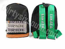 JDM Bride Racing Backpack with Racing Harness Shoulder Straps Super Cool