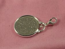 1957 60th Birthday lucky sixpence coin bracelet charm ready to hang 1957 charm