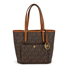Michael Kors Jet Set Snap Pocket Medium Tote - Brown