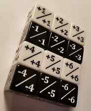 12x Counters / White +1/+1 & Black -1/-1 Dice / for Magic: The Gathering CCG MTG