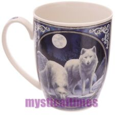 NEW * WINTER WARRIOR * WOLVES  MUG CUP BY LISA PARKER FREE POSTAGE