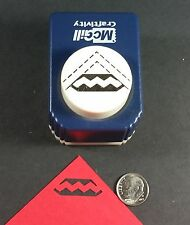 McGill/Stampin Up ZIG ZAG SLOT CORNER PUNCH Button Style Cards Scrapbooking Tags
