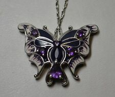 Sterling Silver Amethyst Butterfly Necklace
