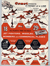 1959 PAPER AD Carrom Nok Hockey Board Game Comet Toy Scale Model Airplane Plane