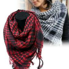 Arab Shemagh Keffiyeh Military Tactical Palestine Scarf Shawl Kafiya Wrap Red TR