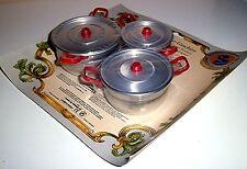 KINDERGESCHIRR für die Puppenstube - Kochtöpfe - Made in Germany *