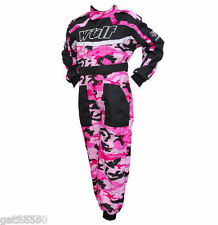 WULFSPORT CAMOUFLAGE KIDS OFF ROAD RACE SUITS BOY GIRL MOTOCROSS QUAD TRIALS