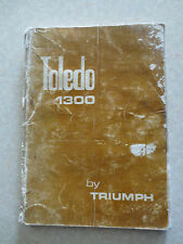 Original 1970s Triumph Toledo 1300 owner's manual