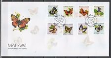 * Malawi, Scott cat. 706-713. Butterfly Definitive issue on a First day cover.