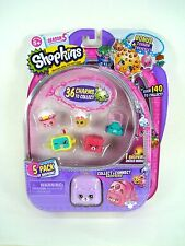 Shopkins S5 5 Pack + Charm Bracelet w/ Collect&Connect Backpack FREE FAST SHIP