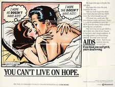 Original Vintage Poster AIDS You Can't Live On Hope NYC Department of Health