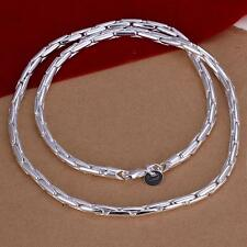 """20"""" Punk Jewelry 925 Sterling Silver Fine Chain Necklace Mens Chunky Choker"""
