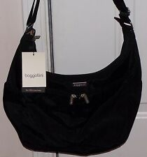 *NEW STYLE* Baggallini CARGO Crossbody Shoulder Bag BLACK Hobo Xbody Sling