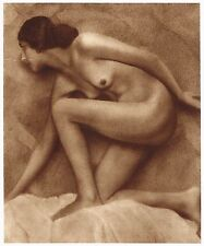 1920's Vintage Polish Female Nude Model Art Deco Dircksen Photo Gravure Print