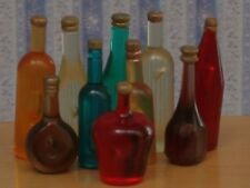 Ten Assorted Bottles, Dolls House Miniatures Food & Drink , Kitchen Dining