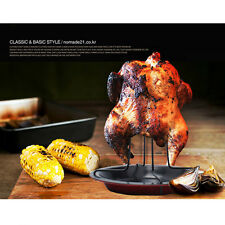 Chicken Non Stick Roaster Rack Plate Upright Turkey Poultry Vertical Barbecue