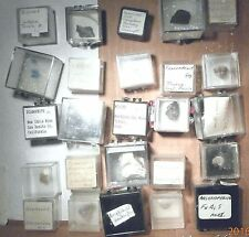 35+ Selection of Minerals in plastic boxes, Thumbnail & Miniature sizes.