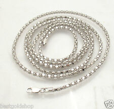 "36"" 2.5mm Anti-Tarnish Coreana Popcorn Chain Necklace Sterling Silver QVC"