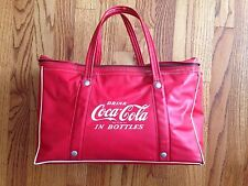 Vintage Coca-cola Insulated Vinyl Bag Red Soft Sided Cooler