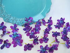 20 Silk Teal Island Orchid Heads, Dendrobium Orchids