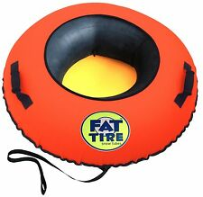 Fat Tire Snow Tube™ - Heavy Duty Snow Tube  (NEON ORANGE)