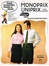 PUBLICITE ADVERTISING 055  1969  MONOPRIX chemise & chemisier JOSSELYNE COUNTRY