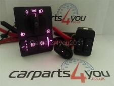 Corsa c/combo/tigra rouge bleu rose led fenêtre commutateurs & headlight switch set