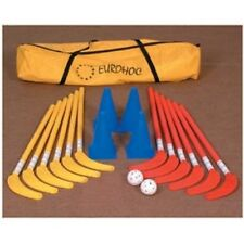 Eurohoc Junior Indoor Hockey Sports Complete Set Sticks Cones Balls & Bag