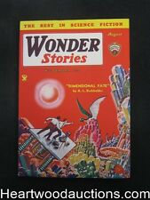 Wonder Stories Aug 1934 Frank Paul Cover, Eando Binder - High Grade