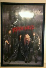 Kiss Revenge promo poster Kiss signed 4 band members.1992