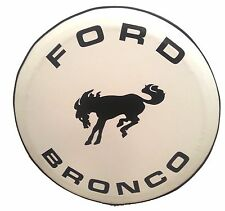 "SpareCover® ABC Series - FORD BRONCO 32"" WHITE Heavy Duty Vinyl Tire Cover"