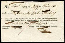 BADEN BUCHEN 1834 POSTSCHEIN(J1252