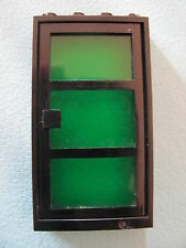 LEGO 30179 @@ Door 1 x 4 x 6 with 3 Panes with Trans-Green Glass @@ BLACK @ NOIR