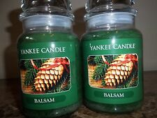 Lot of 2 Yankee Candle   NEW  Balsam  22 oz. Candles Free Shipping