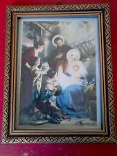 ANCIENNE BELLE ICONE IMAGE PIEUSES RELIGION  MARIE 1950