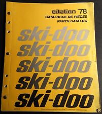 1978 SKI-DOO CITATION  SNOWMOBILE PARTS MANUAL P/N 480 1090 00  (471)