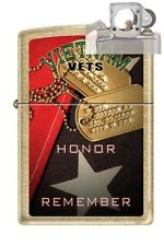 Zippo 207G vietnam vets honor Lighter with PIPE INSERT PL