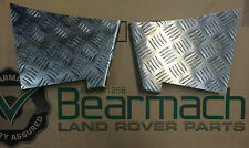 BEARMACH DEFENDER 90 CHEQUER PLATE REAR WING LOWER CORNER PROTECTORS BA 124