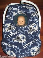 DALLAS COWBOYS FLEECE Baby Car Seat Carrier Cover - NEW w/LINING! NFL COZY BALL