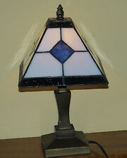 Tiffany Style Lead Stained Glazed Table Lamp