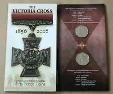THE VICTORIA CROSS 2006 2 X 50 PENCE UNCIRCULATED COINS IN PRESENTATION CARD