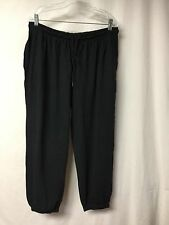 NWOT Women's Plus Size Woman Within Lounge Jog Pant Large 18W-20W Black #164P