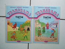 TINTIN  REPORTER // TRANSRAMA / ENQUETE + REPORTER  / JESCO  1984  SOUS CELLOS