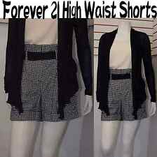 New & Cute FOREVER 21 High Waist Wool Shorts Checkered,Plaid Sz Medium (no belt)