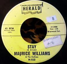 "Maurice Williams Stay / Do You Believe 7"" Herald H-552 Zodiacs Doo Wop"