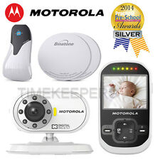 "Motorola MBP26 2.4"" LCD Audio Video Baby Monitor & Babysense 5 Breathing Bundle"